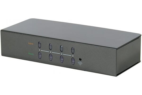 Commutateur VGA avec télécommande – 4 Entrées/1 Sortie