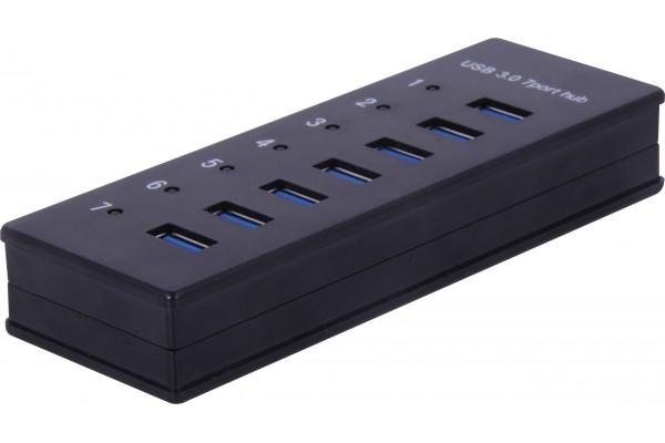 Hub 7 ports USB 3.0 avec alimentation et ports de charge