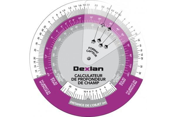 Dexlan disque calculateur profondeur champ pour cameras