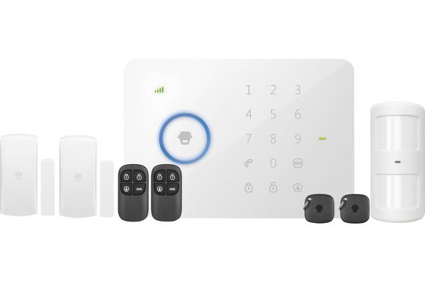 Kit alarme sans fil : centrale GSM + accessoires
