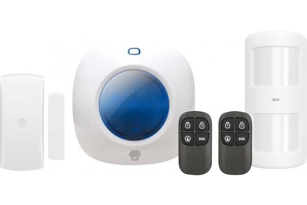 Kit alarme sans fil : centrale + accessoires