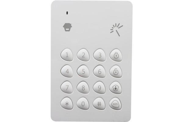 Clavier sans fil avec lecteur RFID pour badges