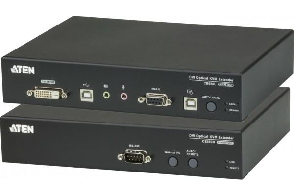 Aten CE680 extendeur DVI-D/USB sur 1 fibre monomode LC 600m