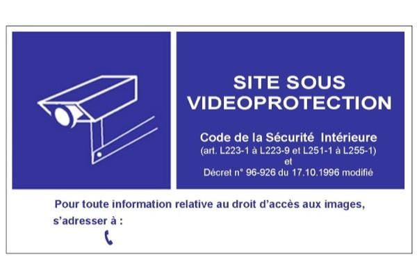 Panneau pvc 15×21 signalisation videosurveillance mural