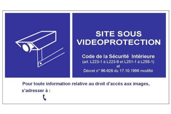 Panneau pvc 15×21 signalisation videosurveillance vitrine
