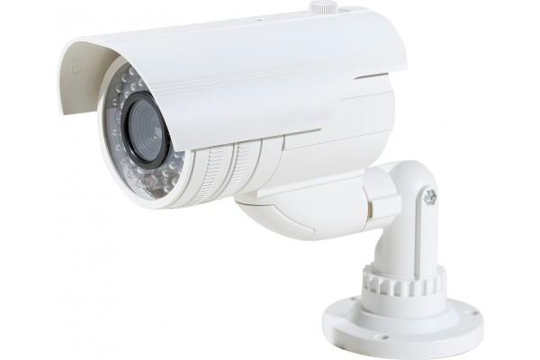 Camera tube factice d'exterieur avec ir