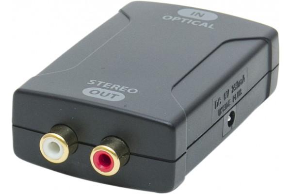 Convertisseur audio toslink vers 2RCA analogiques