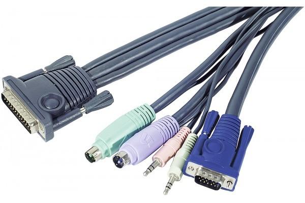 Aten 2L-170xP Cordon KVM VGA/PS2 + audio – 1.80m