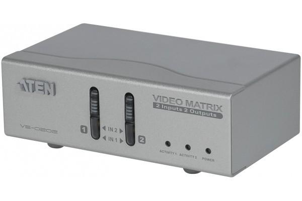 Aten VS0202 matrice vga+ audio 2 ENTREES/2SORTIES