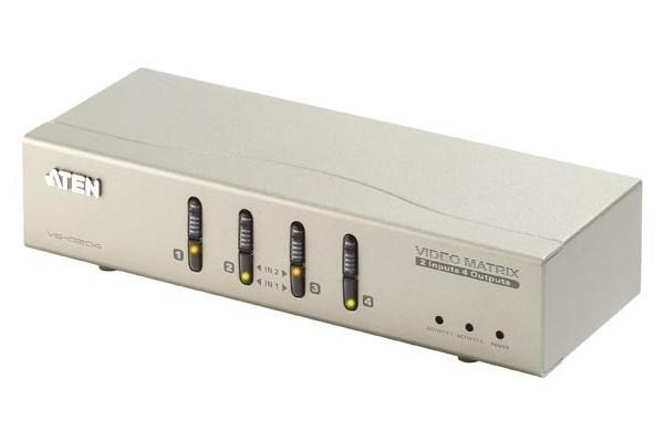 Aten VS0204 matrice vga+audio 2 ENTREES/4SORTIES