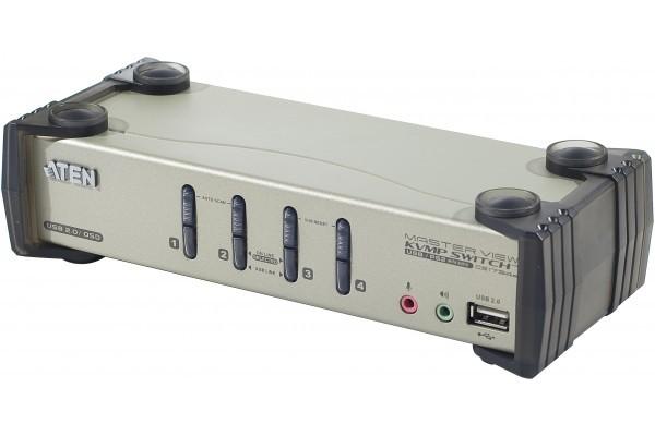 Aten  KVM CS1734B Master View VGA/USB avec câbles – 4 U.C.