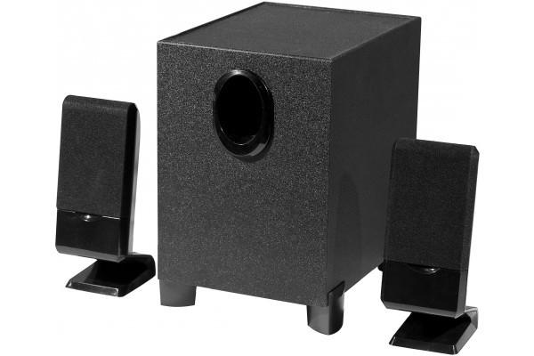 Enceintes Stéréo Multimédia 2.1 14W Jack 3.5 mm ou RCA noir