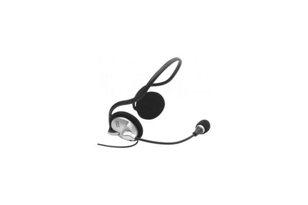 DACOMEX Casque-Micro Stéréo Contour de cou Jack 3.5 mm noir