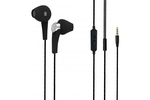 DACOMEX Ecouteurs avec micro Jack 3.5 mm 4 points noir