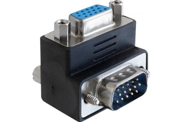Adaptateur vga coudé 90° (bas) m/f