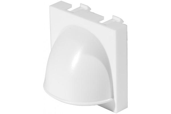 Plastron 45×45 cache-câble