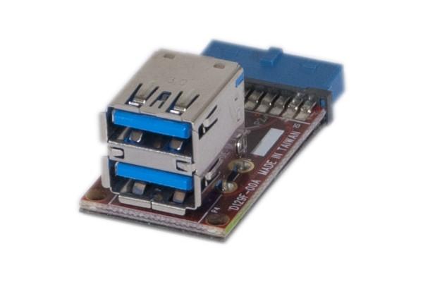 Adaptateur 2 ports USB 3.0 internes sur carte mère