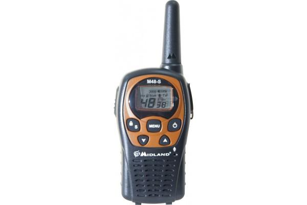 Midland M48 pack de 6 talkies walkies avec accessoires 10km