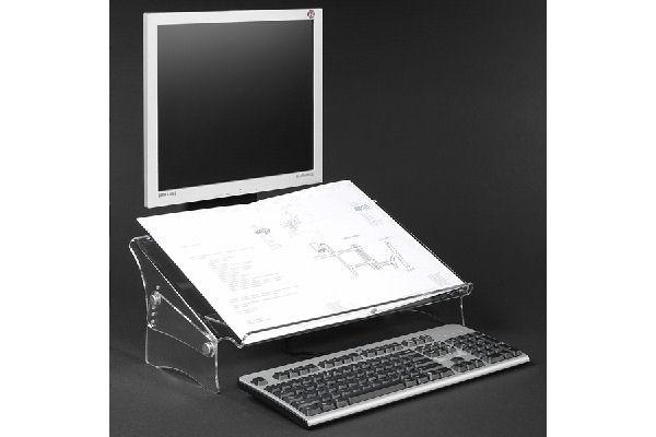 DATAFLEX Porte copie/doc. Acrylique – Hauteur réglable 49410