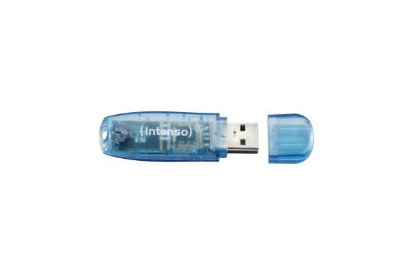 Clé USB 2.0 INTENSO Rainbow Line – 4Go Bleu