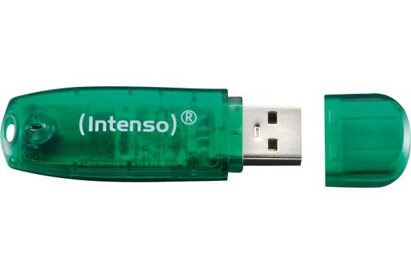 Clé USB 2.0 INTENSO Rainbow Line – 8Go Vert