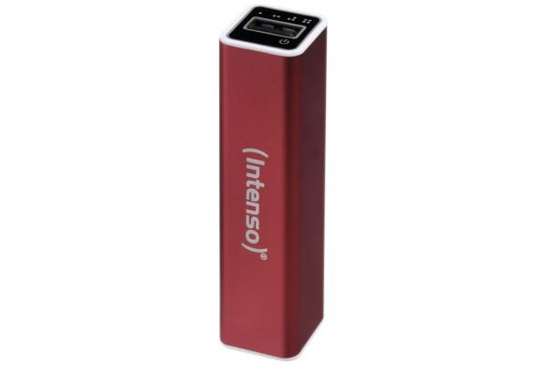 INTENSO PowerBank Alu A2600 Micro USB / USB – 2600mAh Rouge