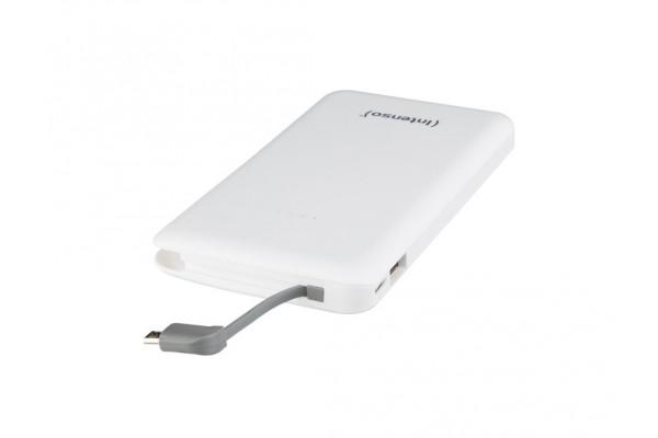 INTENSO PowerBank Slim S10000 Micro USB / USB-10000mAh Blanc