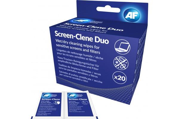 AF DUO BOITE DE 2 x 20 LINGETTES HUMIDES/SECHES POUR LCD