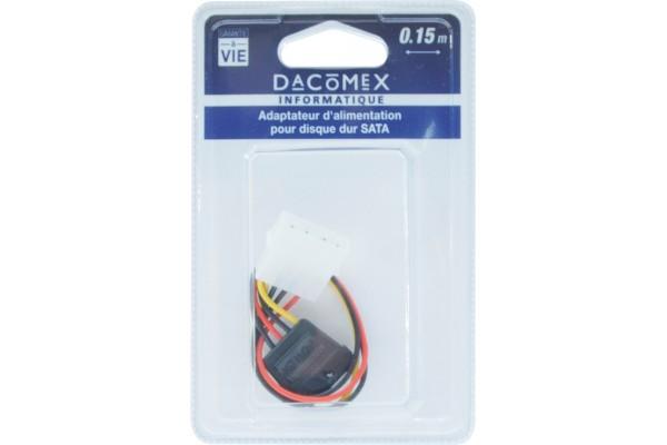 Dacomex blister adapt d'alimentation pour disque dur sata