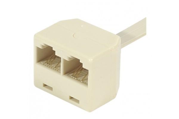 Eclateur de paires RJ45 M/F/F Ethernet – cordon 15 cm