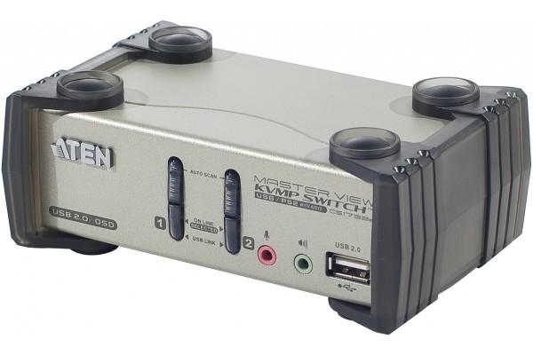 Aten CS1732B kvm 2 ports VGA/USB/Audio + 2 ports hub et OSD