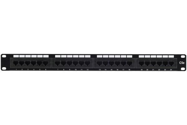 Panneau 19″ 1U 24 ports CAT5e utp