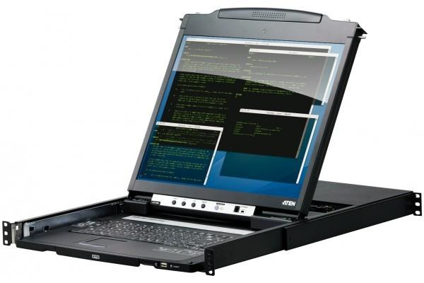 ATEN CL5800 Console KVM LCD 19″ Dual rail 1port VGA/USB-PS2