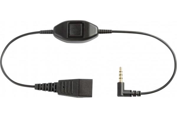 Câble jabra qd / jack 3.5 pour blackberry et iphone