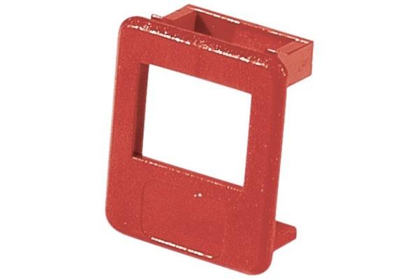 Insert pour panneau RJ lot de 50 pcs-rouge
