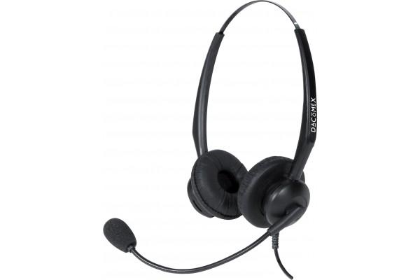 Dacomex casque telephone antibruit micro flex – 2 écouteurs