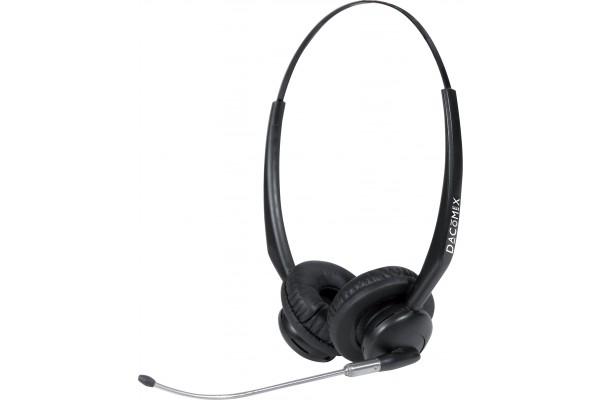 Dacomex casque centre d'appel micro tube – 2 écouteurs