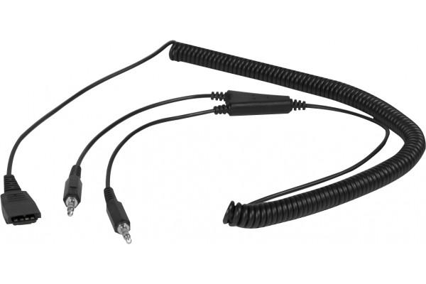 Dacomex cordon PC 2xJack 3.5 pour casque Quick-Disconnect