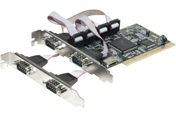 Carte PCI 4 X série RS232  4xDB9 Chipset NetMos