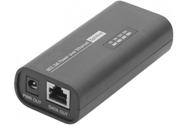 Dexlan client splitter Gigabit PoE+ 802.3at 5-9-12-18V