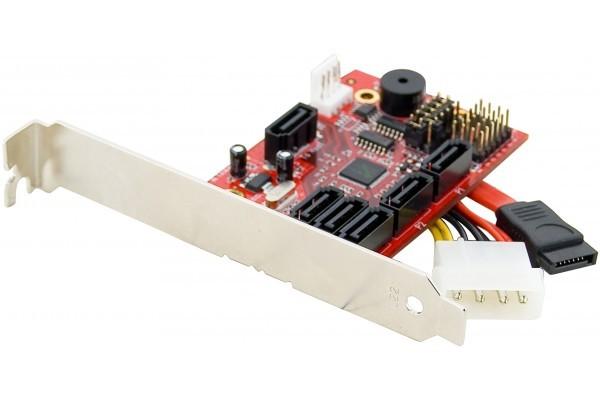 Carte multiplicateur de port SATA 1 à 5 + RAID 0/1/3/5/Jbod