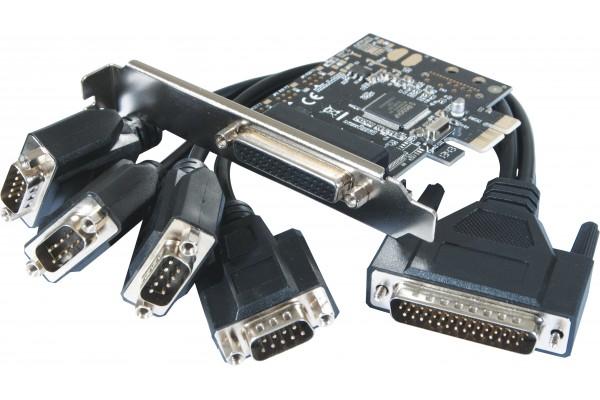 Carte Pci-Express 1X - 4 Ports Série Rs232 Std & Low Profile