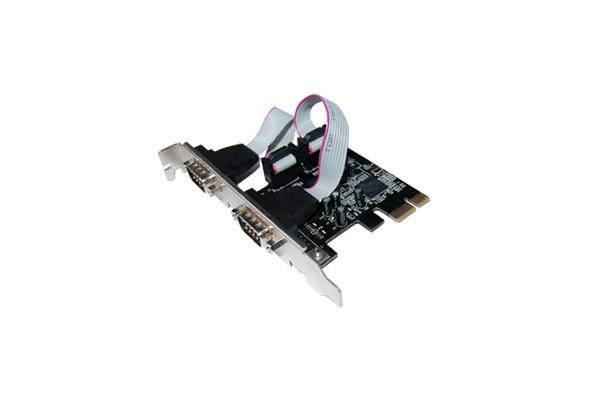 Carte PCI-Express 1X – 2 ports série RS232