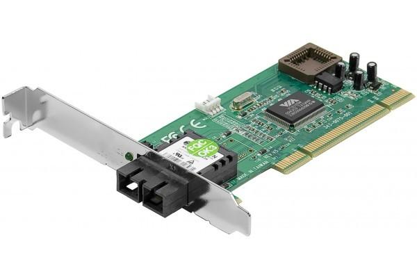 Carte réseau PCI Fibre Optique 100FX SC + Low Profile + WOL
