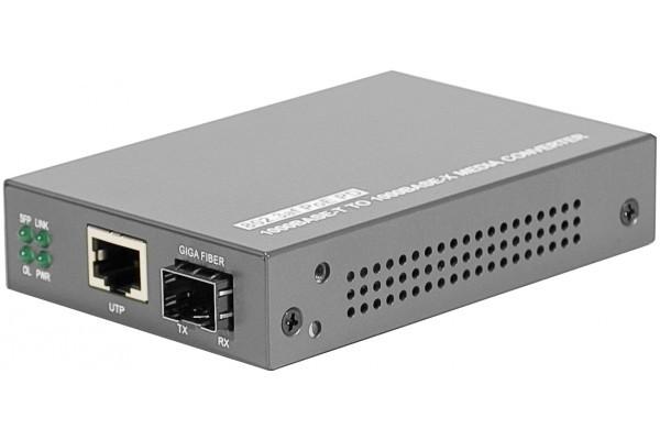 Convert. Fibre optique SFP – RJ45 Gigabit Auto-alimenté PoE