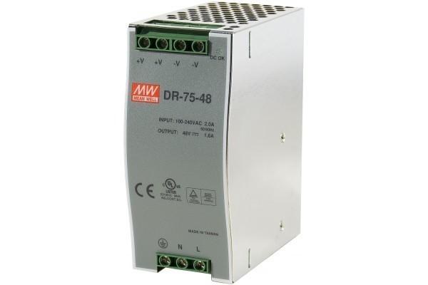 Alim.industrielle 48V-75W/1,6A rail din