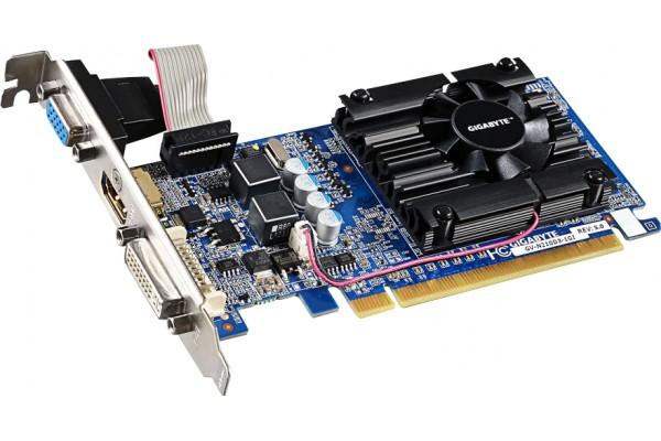 CARTE GRAPH. GIGABYTE GV-N210D3-1GI GF210 1Go VGA/DVI/HDMI
