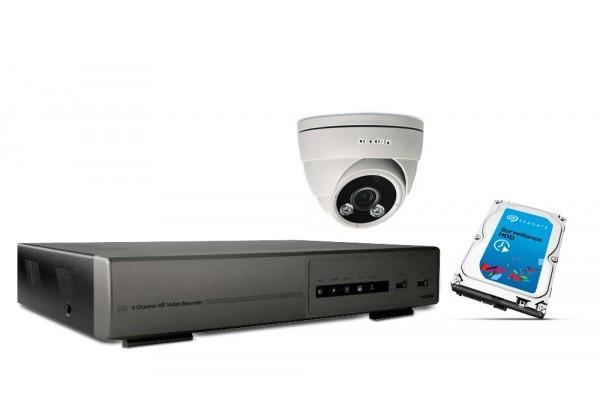 Kit vidéosurveillance IP DEXLAN NVR 2To + caméra dôme