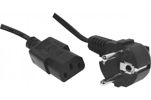Cordon alim pc CEE7 – C13 noir 3 m