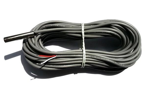 Capteur de température sur cable RJ11 -10°+80°C – 10m IP67
